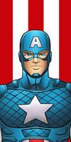 Captain America Panel Art by RichBernatovech