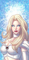 Emma Frost Panel Art by RichBernatovech