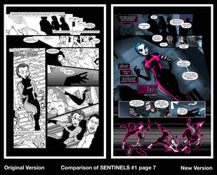Comparison of SENTINELS #1 page 7 by RichBernatovech