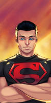 Superboy Panel Art by RichBernatovech