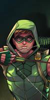 Green Arrow Panel Art by RichBernatovech