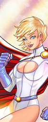 Powergirl Panel Art by RichBernatovech