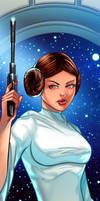 Princess Leia Panel Art by RichBernatovech