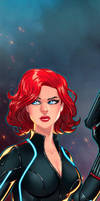 Black Widow Panel Art 2 by RichBernatovech