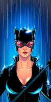 Catwoman Panel Art 2 by RichBernatovech
