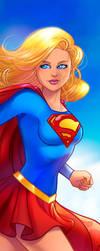 Supergirl Panel Art 2 by RichBernatovech