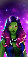 Gamora Panel Art by RichBernatovech