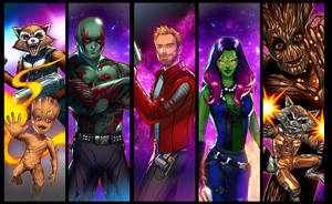Guardians of the Galaxy Panel Grouping by RichBernatovech