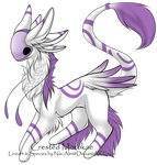 White and purple morokae adopt (taken) by Silversadopts