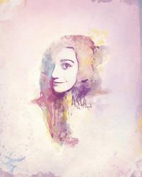 Watercolor portrait by djtrus