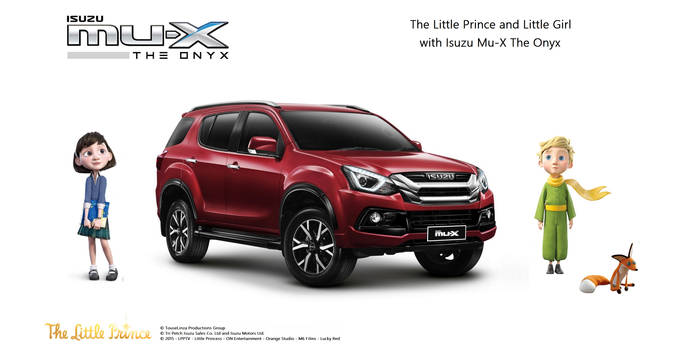 Little Prince and Girl with Isuzu Mu-X The Onyx by TouseLinza