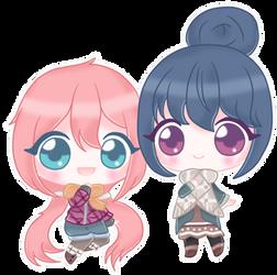 Yuru Camp - Nadeshiko and Rin by Variantly