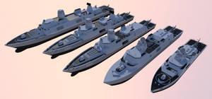 Surface fleet designs by kaasjager