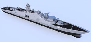 Advanced gun cruiser by kaasjager