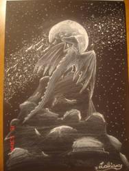 Dragon's Spirit of the Moon by Liothiara