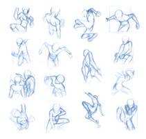 Pose Studies 11 (massive sheet) by Brant-Bi