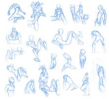 Random poses 23 (massive sheet) by Brant-Bi