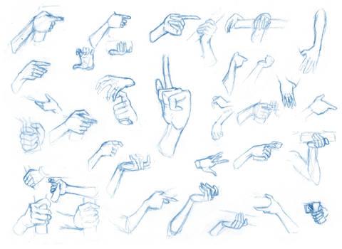 Hand studies 3 by Brant-Bi