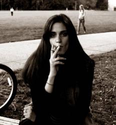 Larisa smoking by Kiota