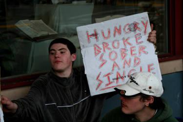 hungry, broke, sober, single by Kiota