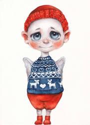 Christmas Angel by oksanadimitrenko