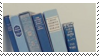 blue books aesthetic stamp by hematology