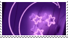 purple moon + stars aesthetic stamp by hematology