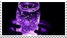 glowing purple jar aesthetic stamp by hematology