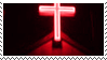 glowing red cross aesthetic stamp by hematology