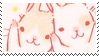 pink bunnies aesthetic stamp by hematology