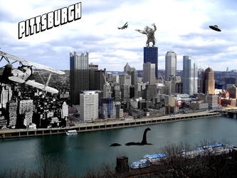 Pittsburgh Postcard by Kerblotto