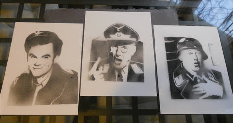 Stalag 13 Triptych by Kerblotto