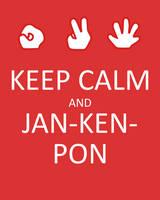 Keep Calm and Jan-ken-pon by hotcheeto89