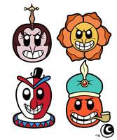 Cuphead Chibi-Pop Heads 4 by hotcheeto89