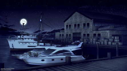 Pier - Night by ViridianMoon