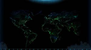 Tiberium World at Night by AdmiralSerenity