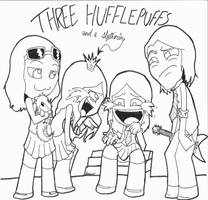 Three Huffles and a Snake by Seliex