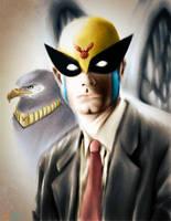 Harvey Birdman and Avenger by JordanGosselin