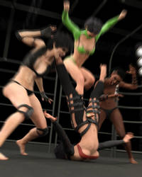 Fight! - Ursula vs Landell - 54 by CrazyStupot