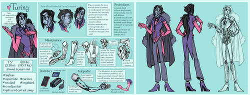 Turing - Character Ref Sheet by Shazzbaa