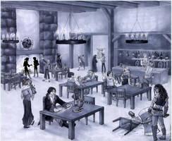 Medieval Tavern by Shazzbaa