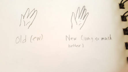 Hand improvement by UnderTale-The-Human