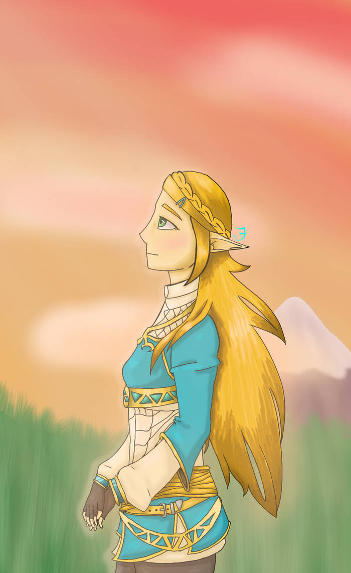 Guys don't worry I'm not dead (BoTW Zelda drawing) by UnderTale-The-Human