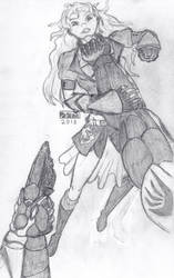 Grimm Reaper Vs. Yang Xiao Long (FP Perspective) by Sigfriedofgaea