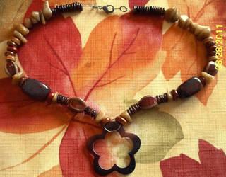 Rustic Flower Necklace by RyouYamiBakura