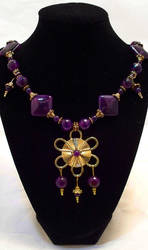 Purple and Gold Necklace by RyouYamiBakura