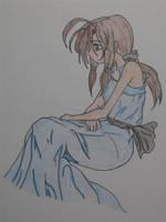Girl in Blue by pandastarr