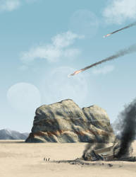 crash landing by BloodRedFullMoon