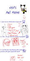 Nyu's art meme by eizu