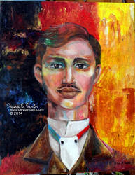 Spontaneous. A Jose Rizal Painting in Germany. by eizu